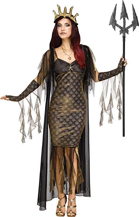 shoperama Reina de los Mares Poseidon Disfraz para Mujer mitología Diosa
