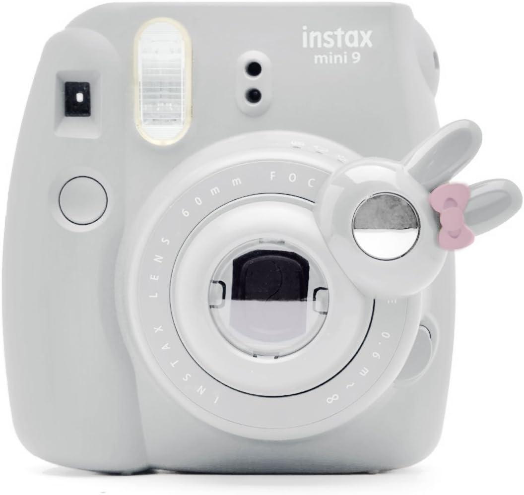 Cute Bunny Selfie and Close Up Lens Shot Mirror for Fujifilm Instax Mini9 Mini 8 Mini13s Hellokitty Instant Camera (Smokey White)