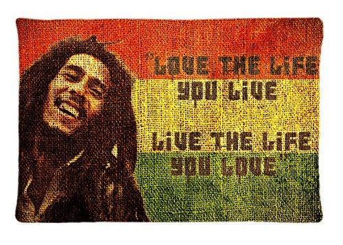 New Bob Marley Rasta Colour Seamless Custom Pillowcase Rectangle Pillow Cases 20x30 Inches (one side)