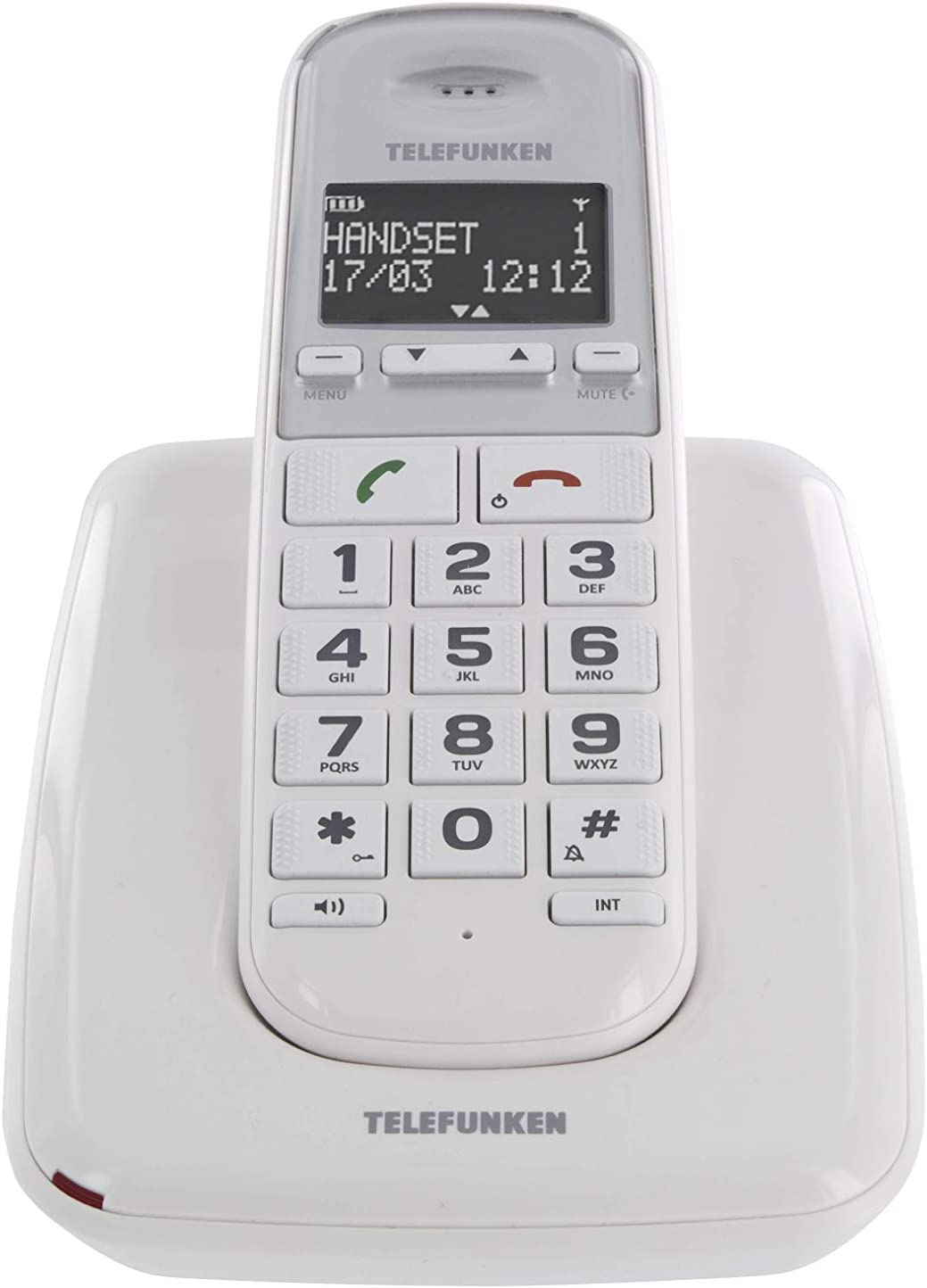 Telefunken TD 301 PILLOW - Teléfono Inalámbrico Td 301 Pillow: Amazon.es: Electrónica