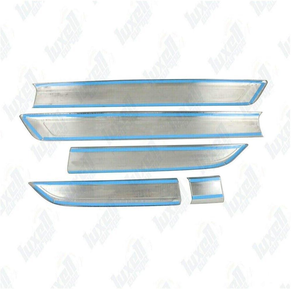 4 portes Lot de 5 serpentins de porte lat/érale chrom/é pour Transit Custom Tourneo 2012+