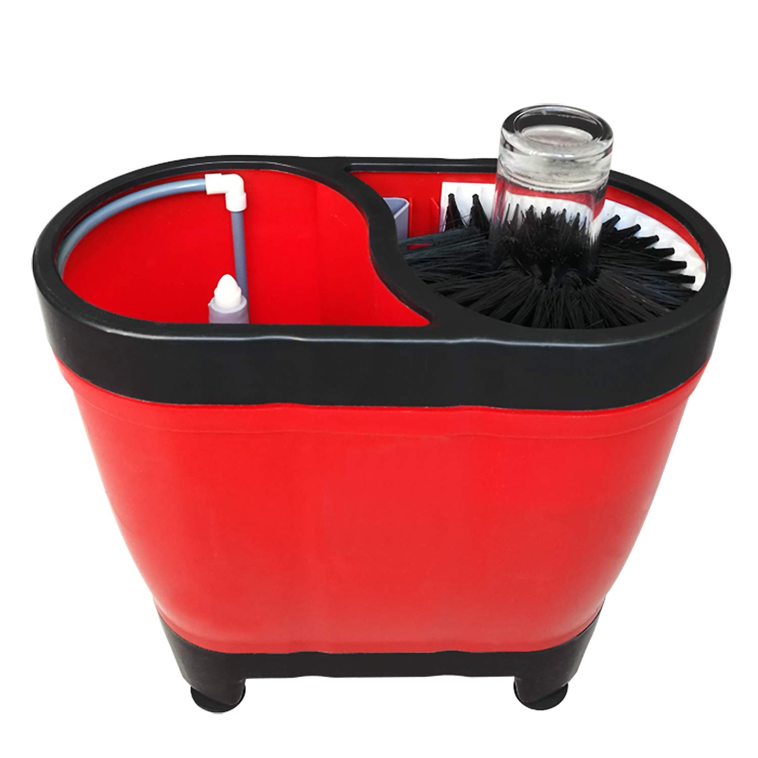 YBB Portable Professional Pitcher Rinser Bar Glass Washer Cup Washer Plastic Washer