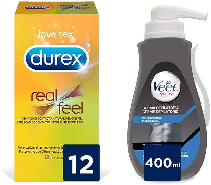 Veet for Men Crema Depilatoria para Hombre Piel Sensible 400ml + ...