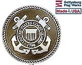 Gettysburg Flag Works Aluminum Grave Marker Coast Guard, Cemetery Memorial Flag Holder, Veteran Plaque, Made In USA