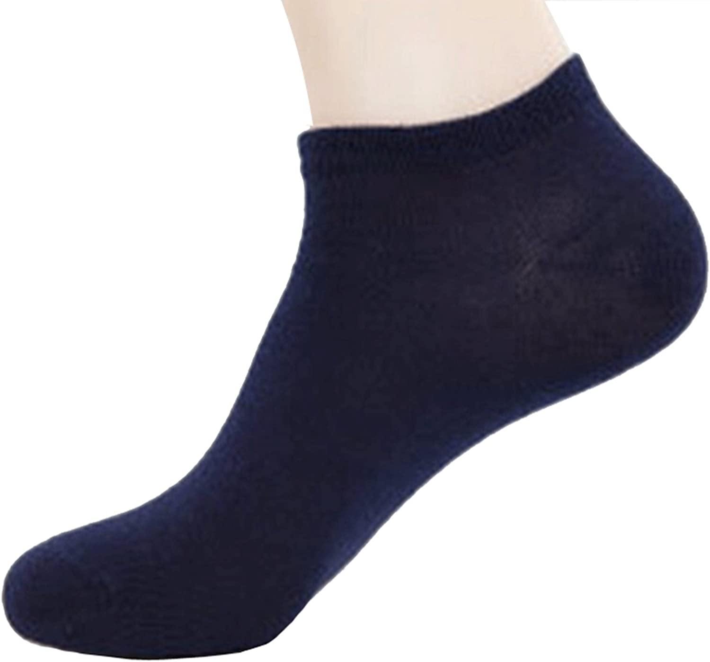 Navy, Shoe 12-14 Dopeme 5 Pack of Mens Walking Ankle Crew Athletic Socks