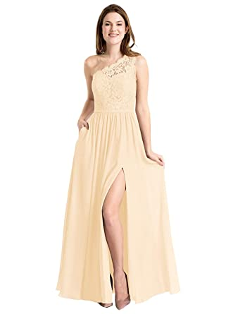 03439701615 Now and Forever Plus Size A-Line Slit Bridesmaid Evening Party Dress Long  for Women