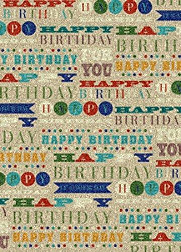 Papel de envolver para texto, cumpleaños marrón para hombre ...