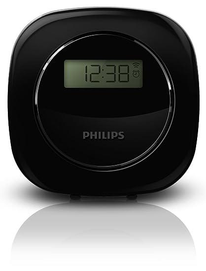 Philips Reloj - Despertador (Negro, LCD, 4 dígitos, Blanco, AAA,