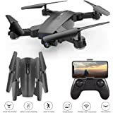 Hotbird Auto Follow Me Drone with 2MP 120° Wide Angle 3D VR Live Video Camera Optical Flow Position Foldable RC Mini Kids Helicopter WiFi FPV Gesture Shooting Selfie Quadcopter Two Lenses Switch