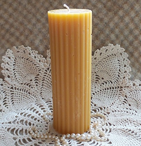 Fluted Pillar Candle - Beeswax Candle Fluted Pillar 2