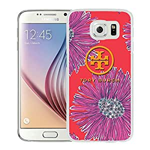 Popular Designed Phone Case For Samsung Galaxy S6 With Tory Burch 41 White Phone Case