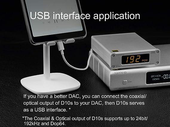 Plata Topping D10s DAC estacionario Compacto