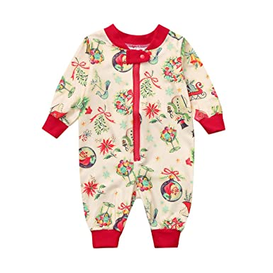 (6-24M) Toddler Infant Baby Boys Girls Long Sleeve Family Pajamas Sleepwear  Christmas 000f36f15
