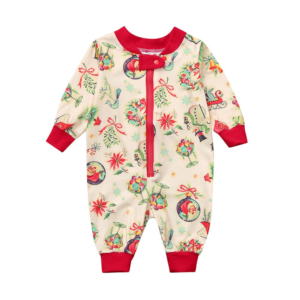 Iuhan Clearance! Baby Boy Girl Romper Jumpsuit Pajamas Sleepwear Christmas Outfits
