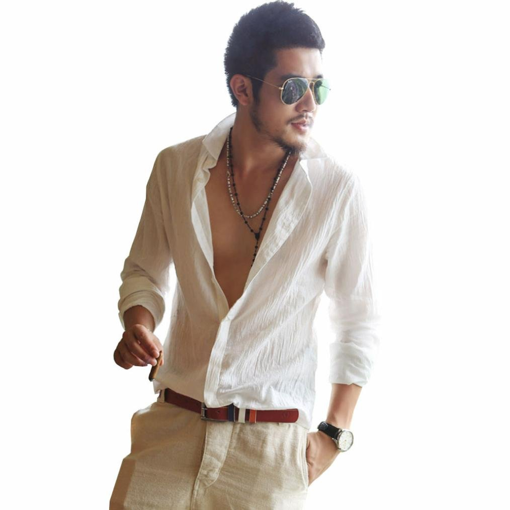 Ximandi Cotton Linen Shirts Man Summer White Shirt Men Ultra Thin Casual Shirt