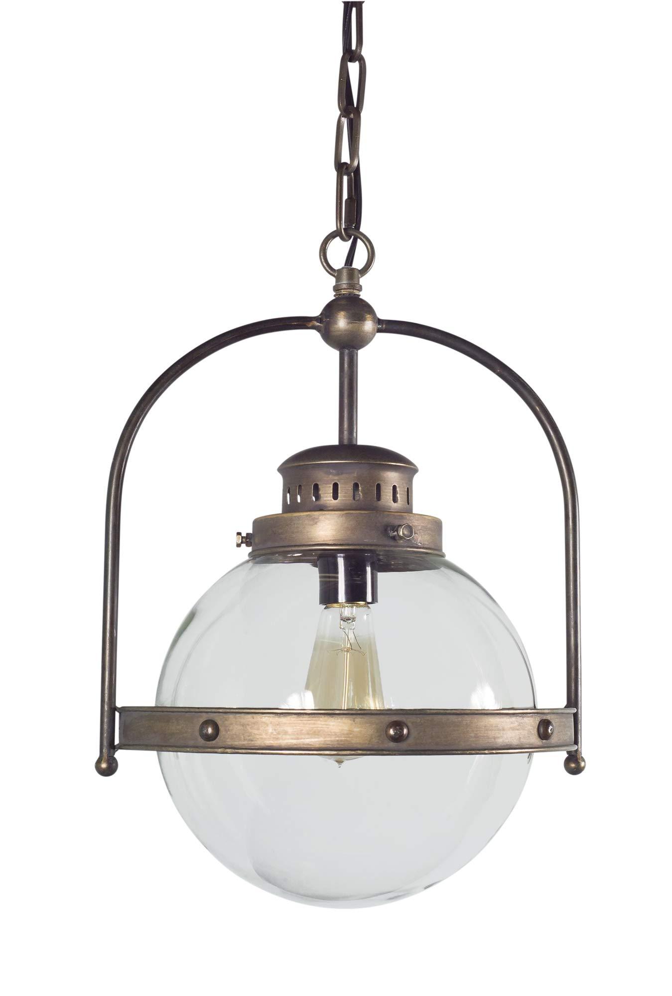Melrose International Hanging Lamp 13'' x 18''H Metal/Glass (Max 40W)