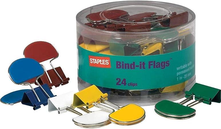 "Staples Binder Clips Medium 1 1//4/"" Width 5//8/"" Capacity Black 103549"