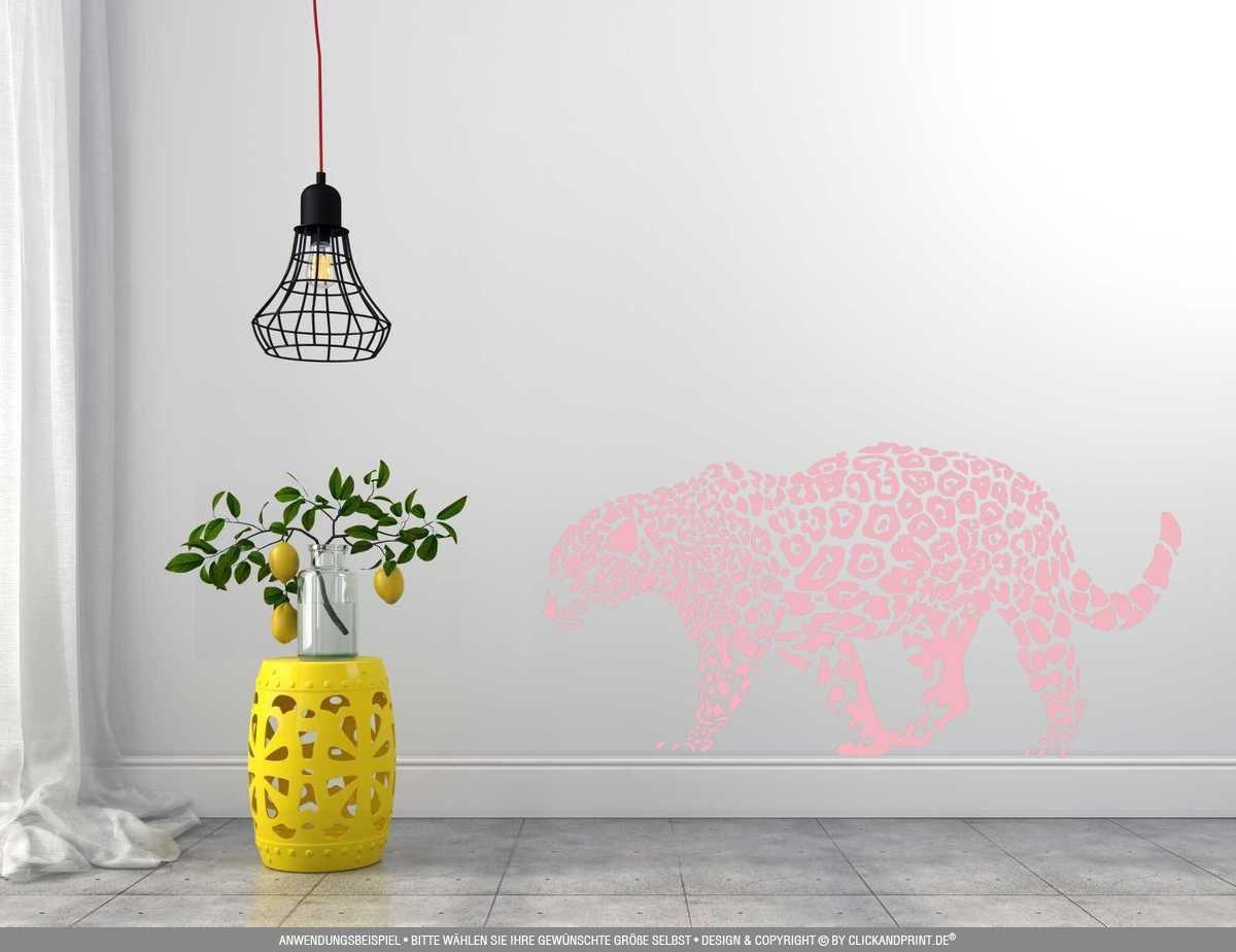 CLICKANDPRINT Aufkleber » Leopard, 150x74,4cm, Türkis • Wandtattoo     Wandaufkleber   Wandsticker   Wanddeko   Vinyl B073X7H2TZ Wandtattoos & Wandbilder 1012a9