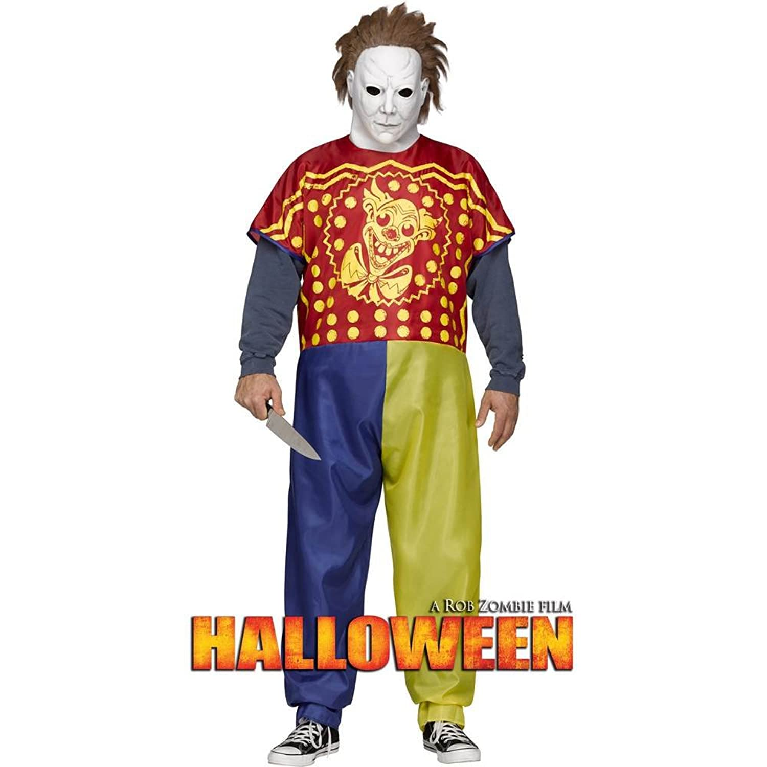 Amazon.com Fun World Menu0027s Michael Myers The Beginning Costume Multi One Size Clothing Sc 1 St Amazon.com  sc 1 st  Germanpascual.Com : clown diy costume  - Germanpascual.Com