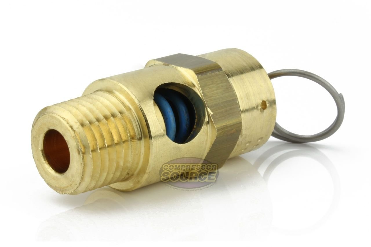 New 1//4 ASME Brass Safety relief Valve 70 PSI American made Compressed air pop off valve safety valve