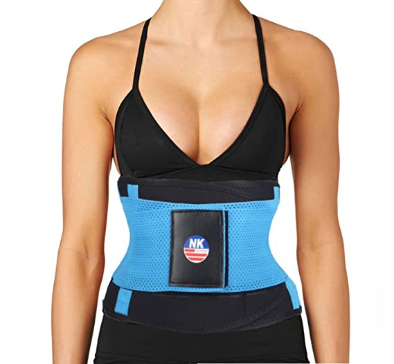 a7290e2be Hioffer Waist Trimmer Belt Back Support Adjustable Abdominal Elastic Waist  Trainer Hourglass Body Shaper For Weight Loss at Amazon Women s Clothing  store