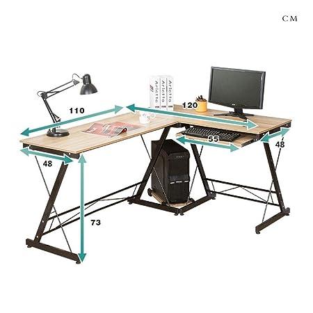 Escritorio de Computadora Simple moderna en forma de L Oficina de ...
