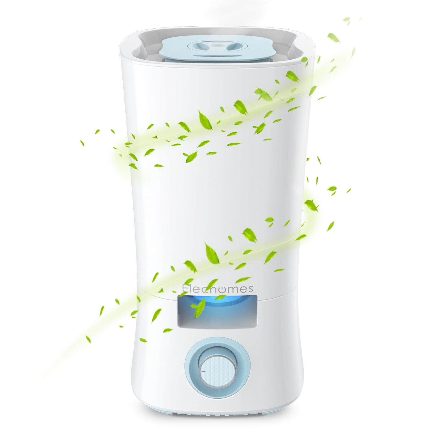 Elechomes Cool Mist Humidifier, 3.5L Ultrasonic Humidifiers for Bedroom Baby Room with Stepless Mist Adjustment, 360 Degree Rotatable Dual Nozzles, Whisper Quiet Operation and Auto Shut-off, CH352