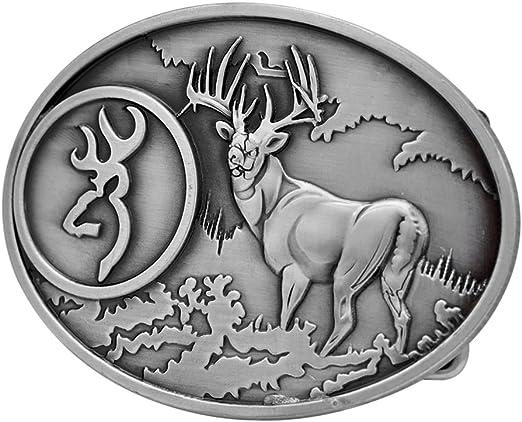 Novelty Vintage Western Deer Hunting Belt Buckle Metal Animal Elk Unique