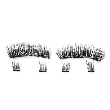 092af335d43 Amazon.com : 6Pcs Eyelashes Invisible Lashes Mink Eyelashes With Tweezers  3D Mink Lashes Thick Full Strip False Eyelashes, ks04 : Beauty