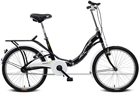 AOHMG Bicicleta Plegable Adulto, Aluminio Unisex Urbana Bici ...