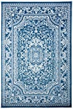 "Cheap NEW Summit Elite S62 Blue and White rug Antuque Style Tone on Tone (5X7 ACTAL SIZE IS 4′.10"" X 7′.2"")"