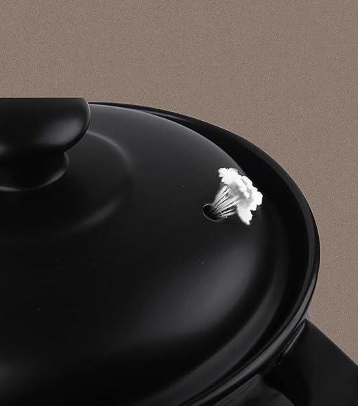 TFguo estofado Cacerola Casserole Stew Pot Olla de cerámica de Fuego Abierto Olla de Sopa de Temperatura Alta Casserole de Salud Negro Casserole de Gran ...