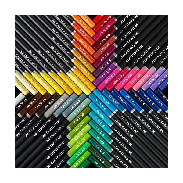 Castle Art Supplies 120 Colored Pencils Set for Adults Artists Professional   Featuring soft series core for expert… 4
