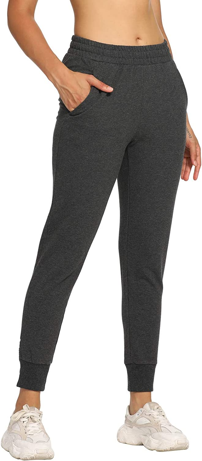 LastFor1 Womens Sweatpants Active Athletic Jogger Running Workout Casual Pants Cotton Drawstring with Pockets