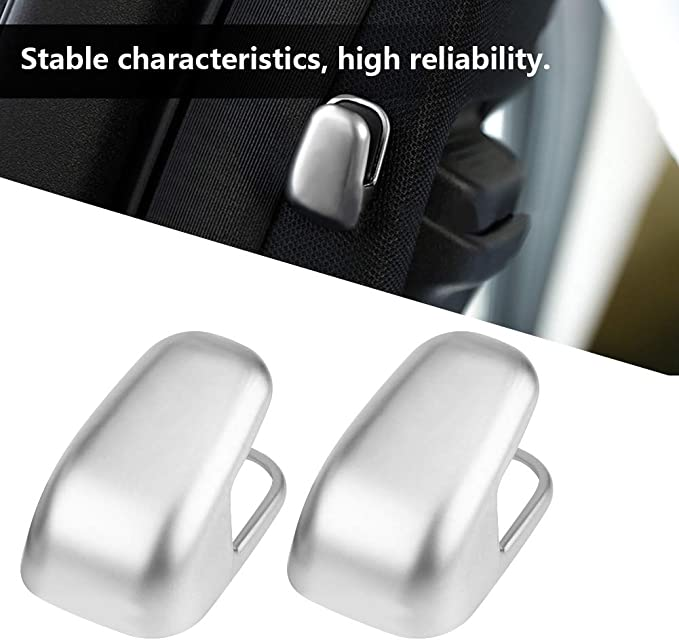 2Pcs Seat Safety Belt DecorationTrim,Keenso Silver Safety BeltCover for Mercedes Benz E Class W212 W213 S Class W222