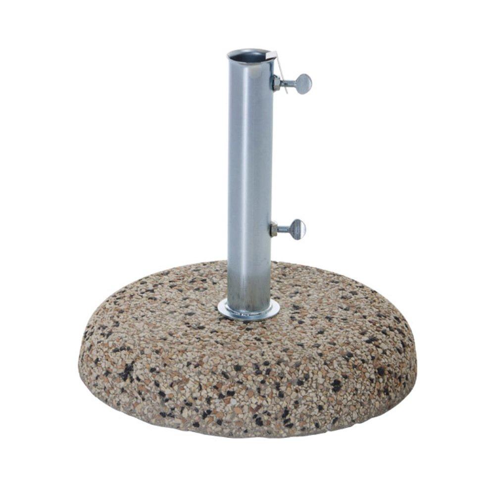 VERDELOOK Base porta ombrellone in cemento, tubo Ø 45 mm, coperture arredo esterni Biacchi Ettore srl