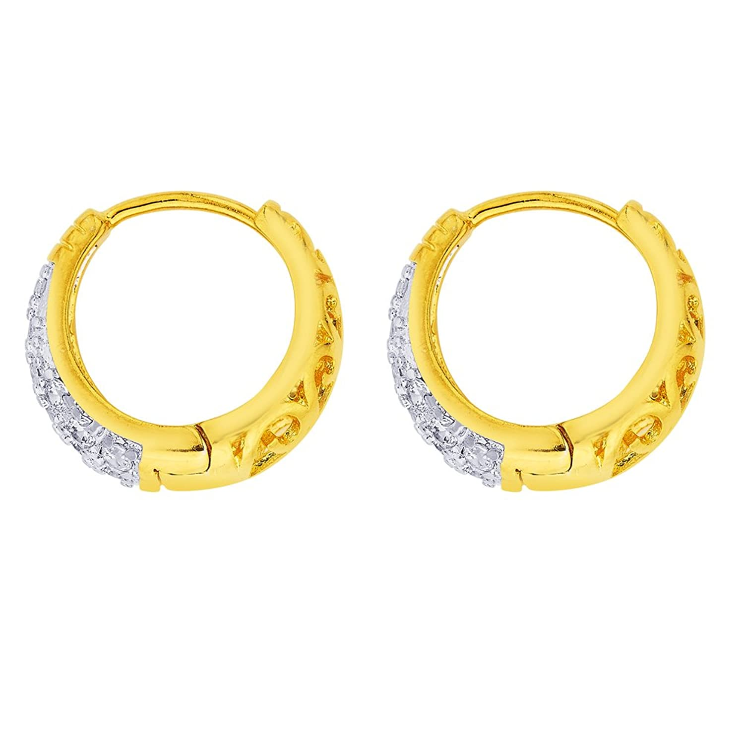 BeBold Piercing Gold Stainless Steel Micro AD Setting Fashion Bali ...