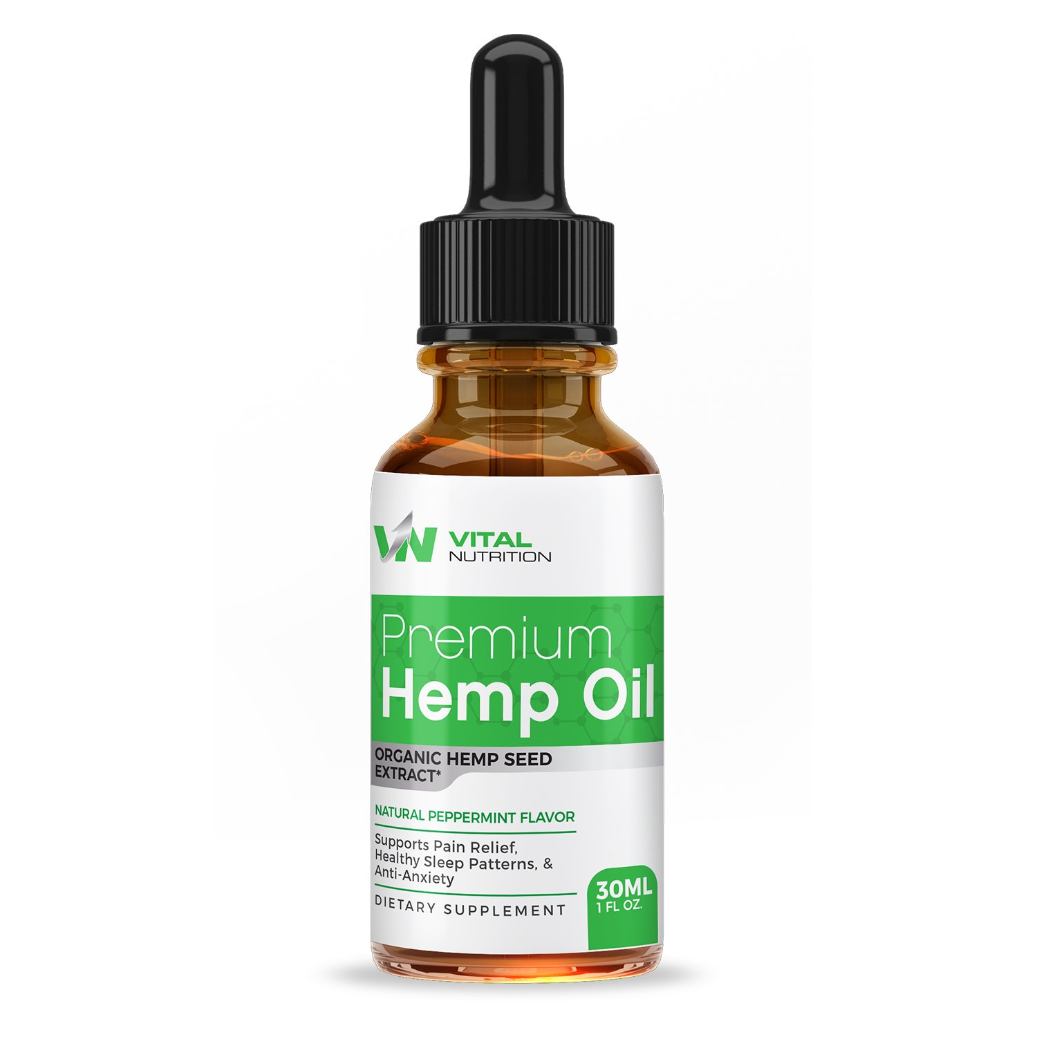 Hemp Oil Extract (30ML Bottle) :: Enhanced Natural Formula:: Encourages Heart Health:: Encourages Relaxation :: Loaded W/Omega 3 & 6 Fatty Acids:: 30 Day Supply :: Vital Nutrition