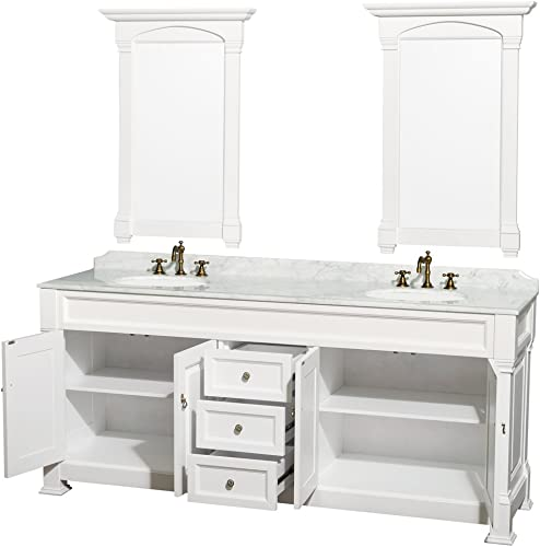 Wyndham Collection Andover 80 inch Double Bathroom Vanity