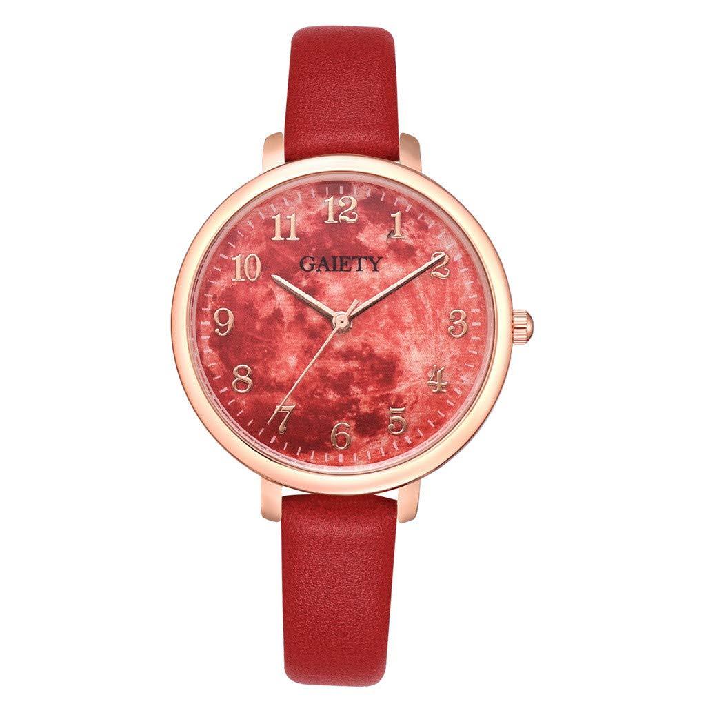Hotkey Mens Watches Clearance Sale Fashion Leather Casual Watch Luxury Analog Quartz Fine Strap Wristwatch