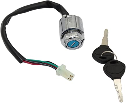 GOOFIT 4 Wire Ignition Key Switch Lock for Honda Yamaha Kawasaki Suzuki KTM Go Kart Quad Dirt Bike ATV