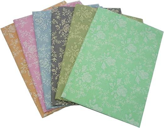 6 piezas 40cm * 50cm rosa tela de algodón estampado,telas para ...