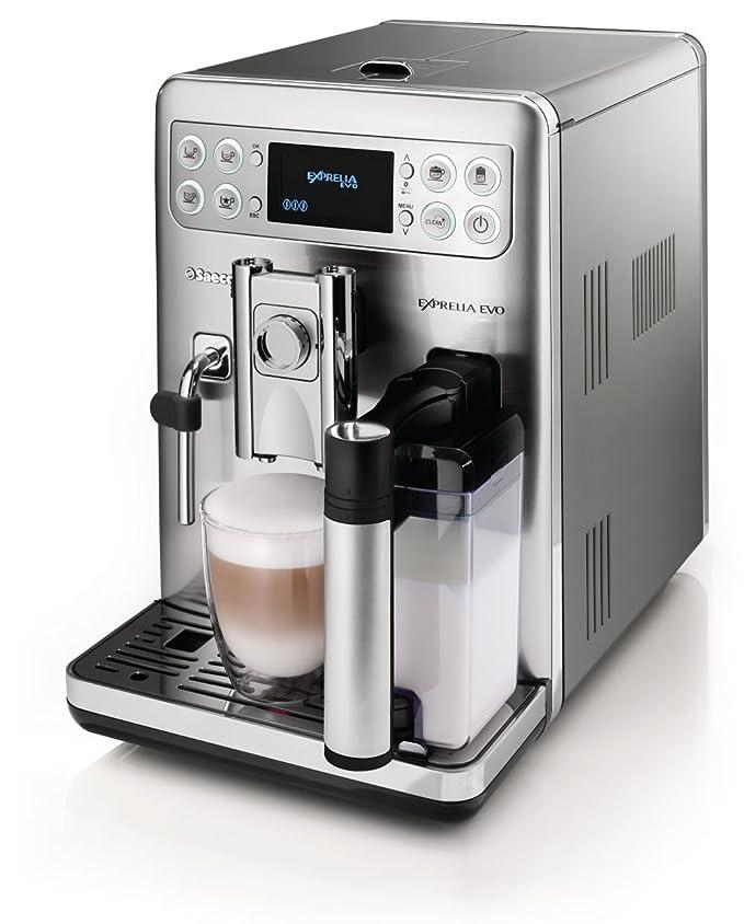 Saeco HD8857/01 Exprelia Evo - Cafetera automática (acero inoxidable, 1,6 l, 15 bares, 1400 W, contenedor de leche integrado): Amazon.es: Hogar