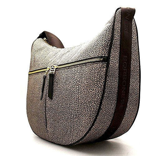 Borbonese O Borsa In Medium Jet p Natural Luna rgrSqx7wB