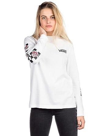 03c9fe6333 Longsleeve Women Vans Patchwork Floral T-Shirt LS  Amazon.co.uk  Clothing