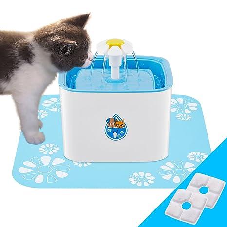 Dispensador de fuente de agua para mascotas, 3 modos de flujo de agua automático Silenciamiento