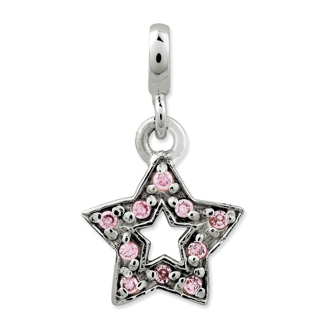 ICE CARATS 925 Sterling Silver Pink Cubic Zirconia Cz Star Enhancer Necklace Pendant Charm Celestial Fine Jewelry Ideal Gifts For Women Gift Set From Heart by ICE CARATS (Image #1)