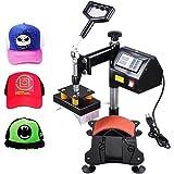 "Yescom 5-1/2""x3"" Desktop Iron Cap Heat Press Machine Baseball Hat Digital Transfer Sublimation Machine"