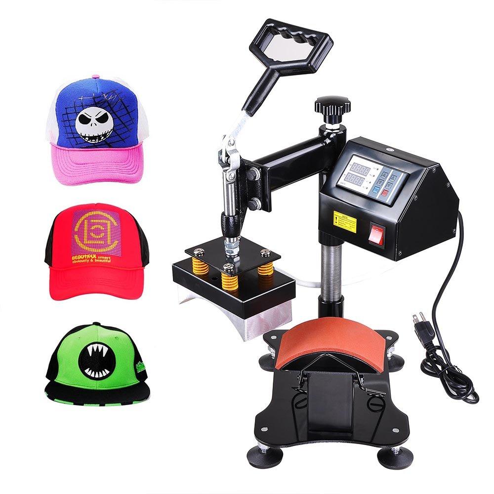 Yescom 5-1/2''x3'' Desktop Iron Cap Heat Press Machine Baseball Hat Digital Transfer Sublimation Machine by Yescom