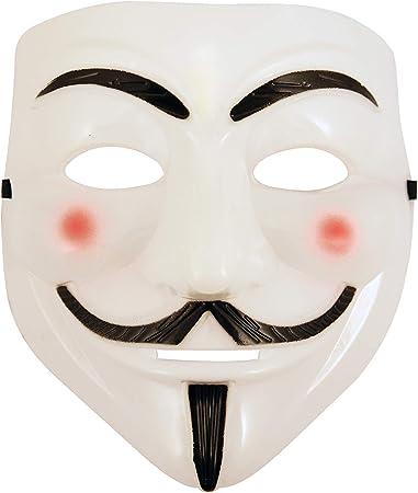 Vendetta Disfraz Máscara V: Amazon.es: Juguetes y juegos